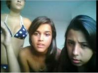 Webcam captures group of girls