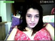 Stickam busty girl masturbate using dildo 2 vids