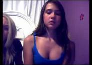 Two chicks smoke and flash on Omegle